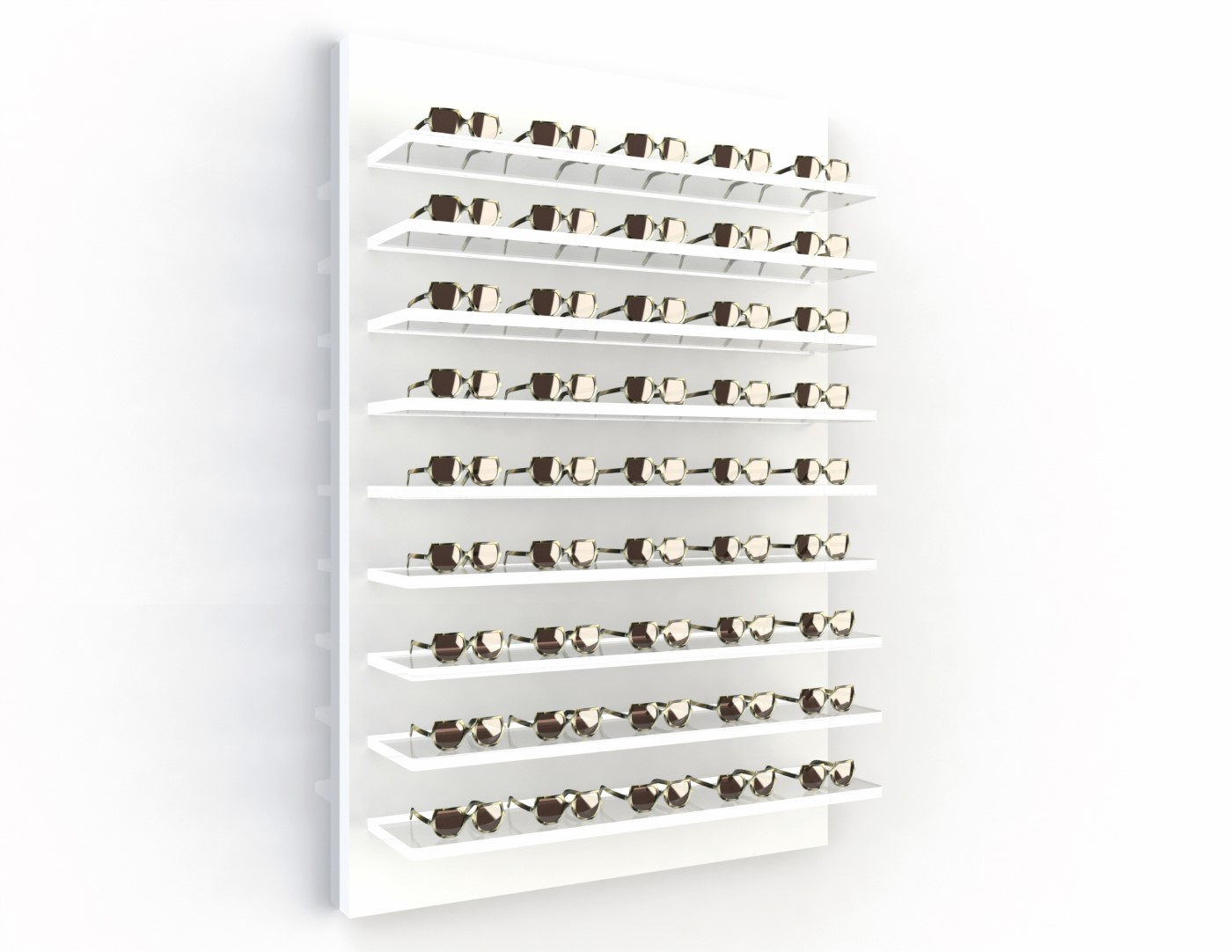 <strong>#58150</strong><br>9x 20mm acrylic shelves<br>40 frames