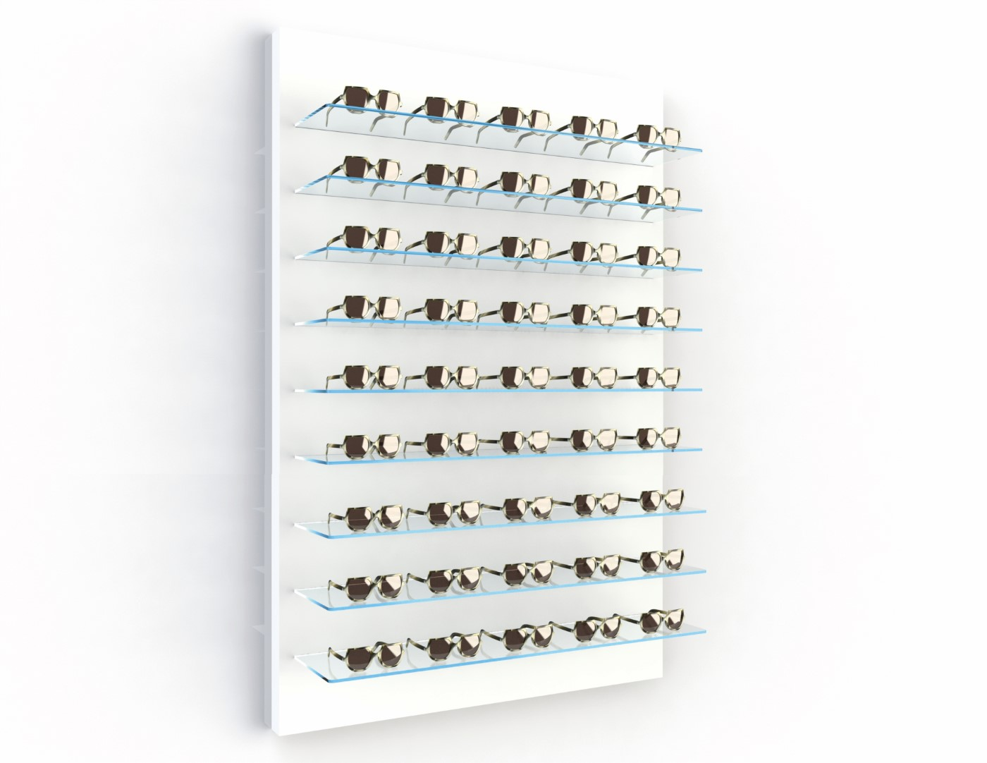 <strong>#58130W</strong><br>9x 6mm crystal clear shelves<br>40 frames