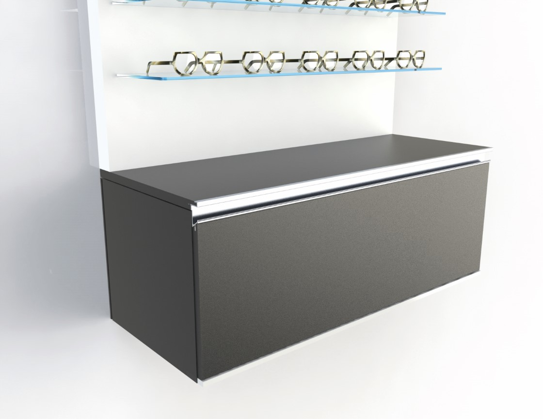 <strong>#58105B</strong><br>1000x418x380mm basic black cabinet