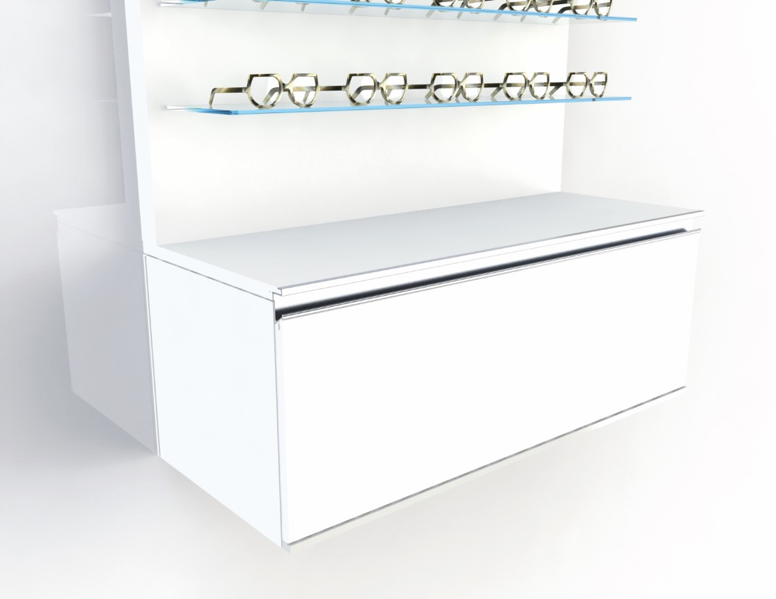 <strong>#58115W</strong><br>1000x418x380mm basic white cabinet