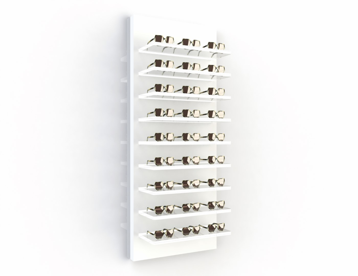 <strong>508140W</strong><br>9x 20mm acrylic shelves<br>27 frames