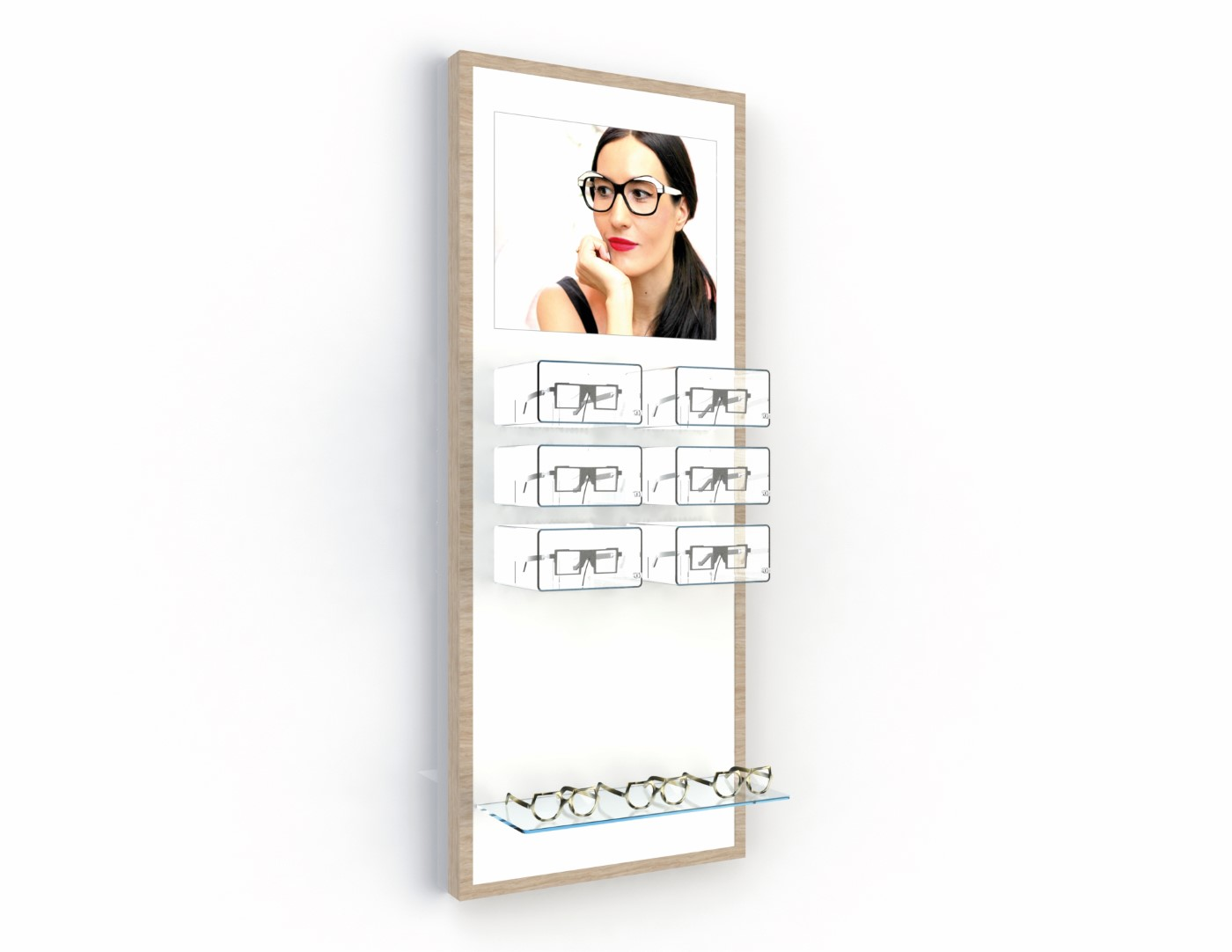 <strong>#58251ST</strong><br>6x lockable highlight boxes<br>1x cystal clear shelve<br>illuminated banner<br>12 frames
