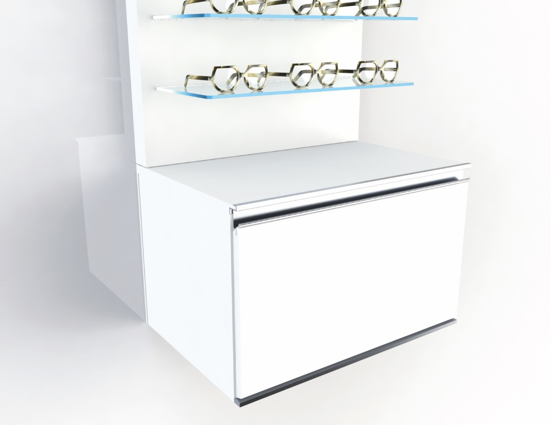 <strong>#58105W</strong><br>600x418x380mm basic white cabinet