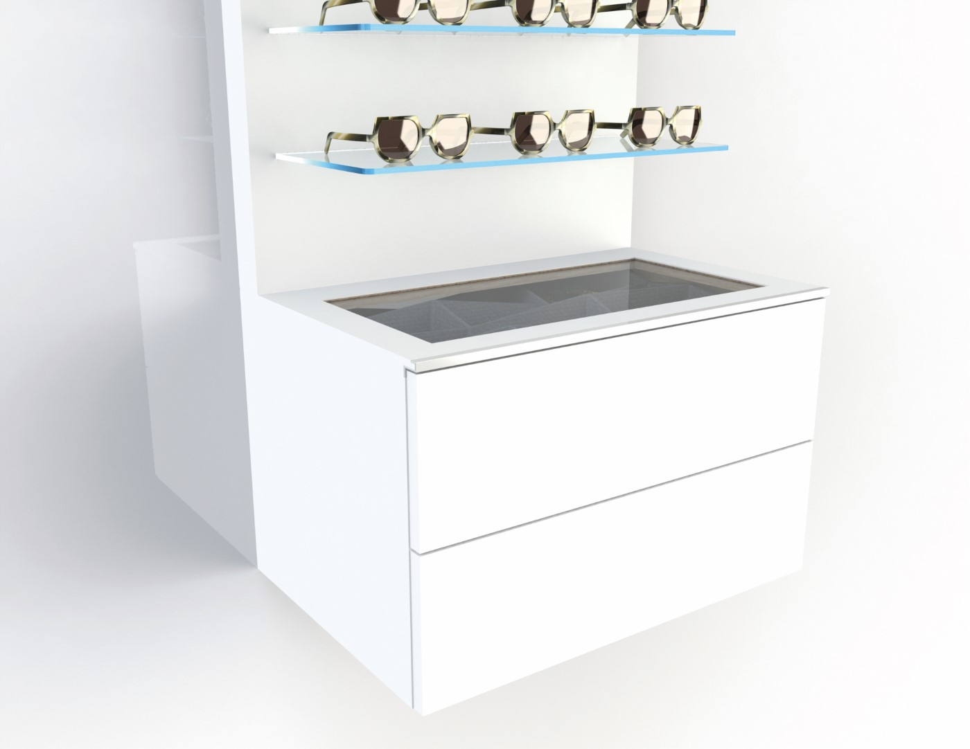<strong>#58100W</strong><br>600x418x380mm white cabinet deluxe