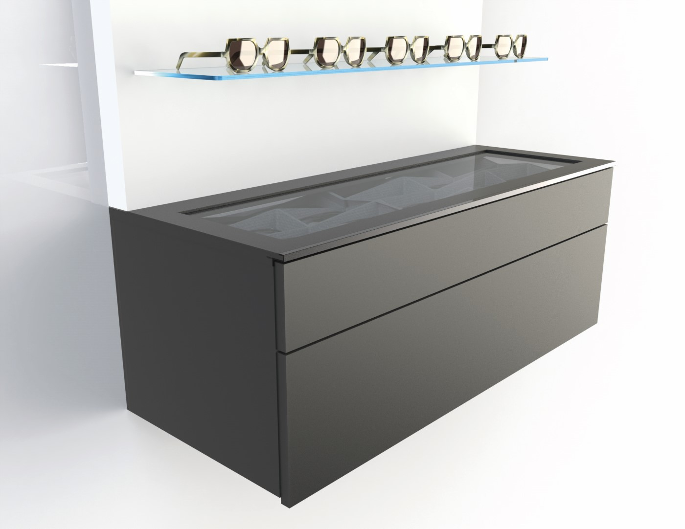 <strong>#58110B</strong><br>1000x418x380mm black cabinet deluxe
