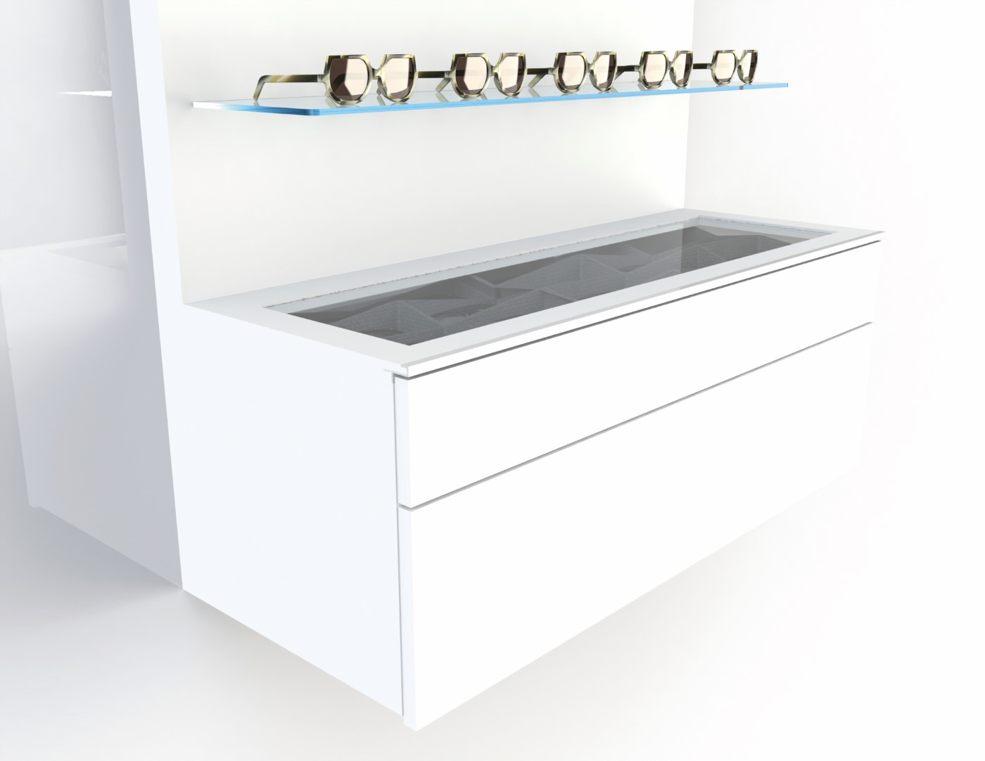 <strong>#58110W</strong><br>1000x418x380mm white cabinet deluxe
