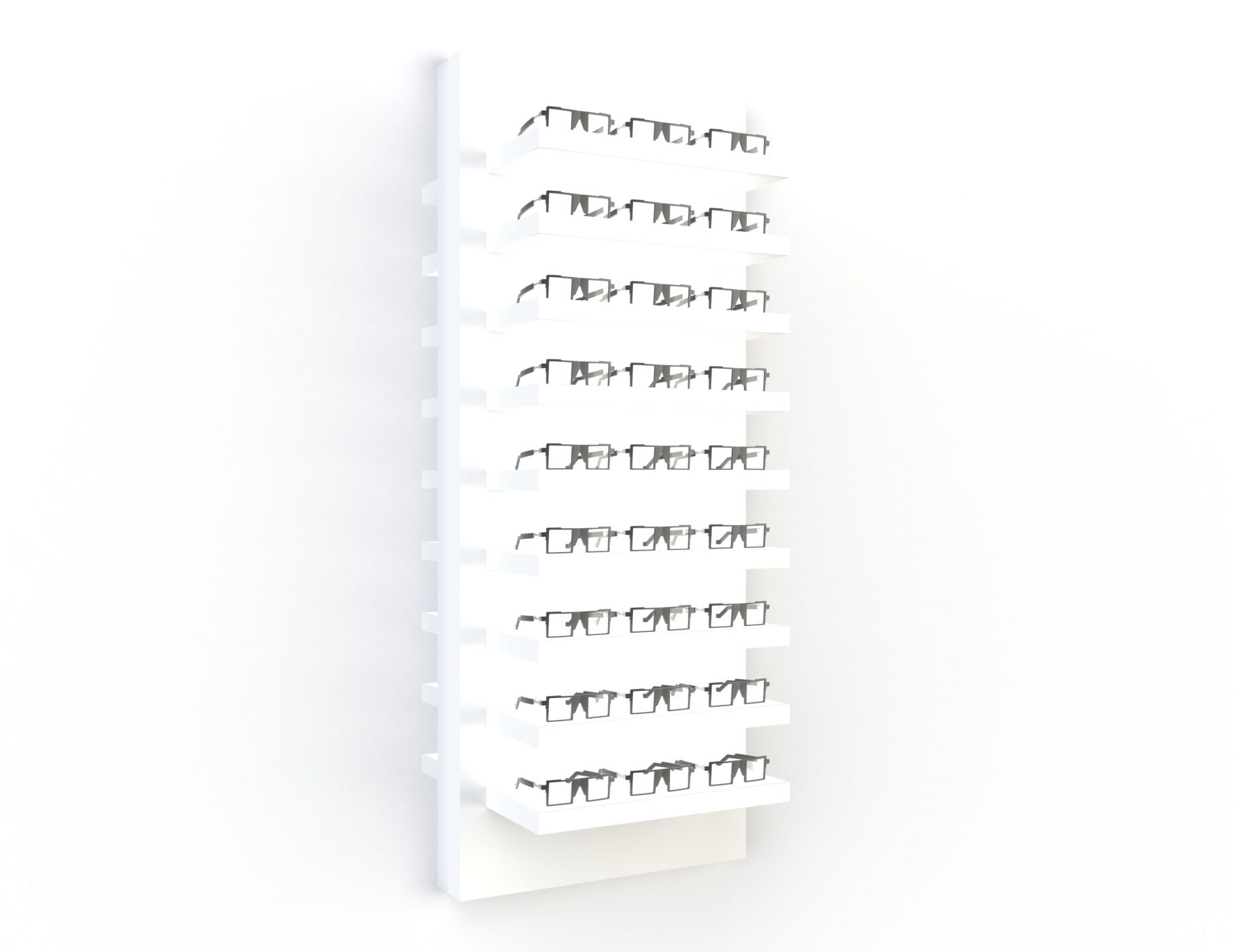 <strong>#58160W-W</strong><br>9x 35mm LED shelves<br>27 frames