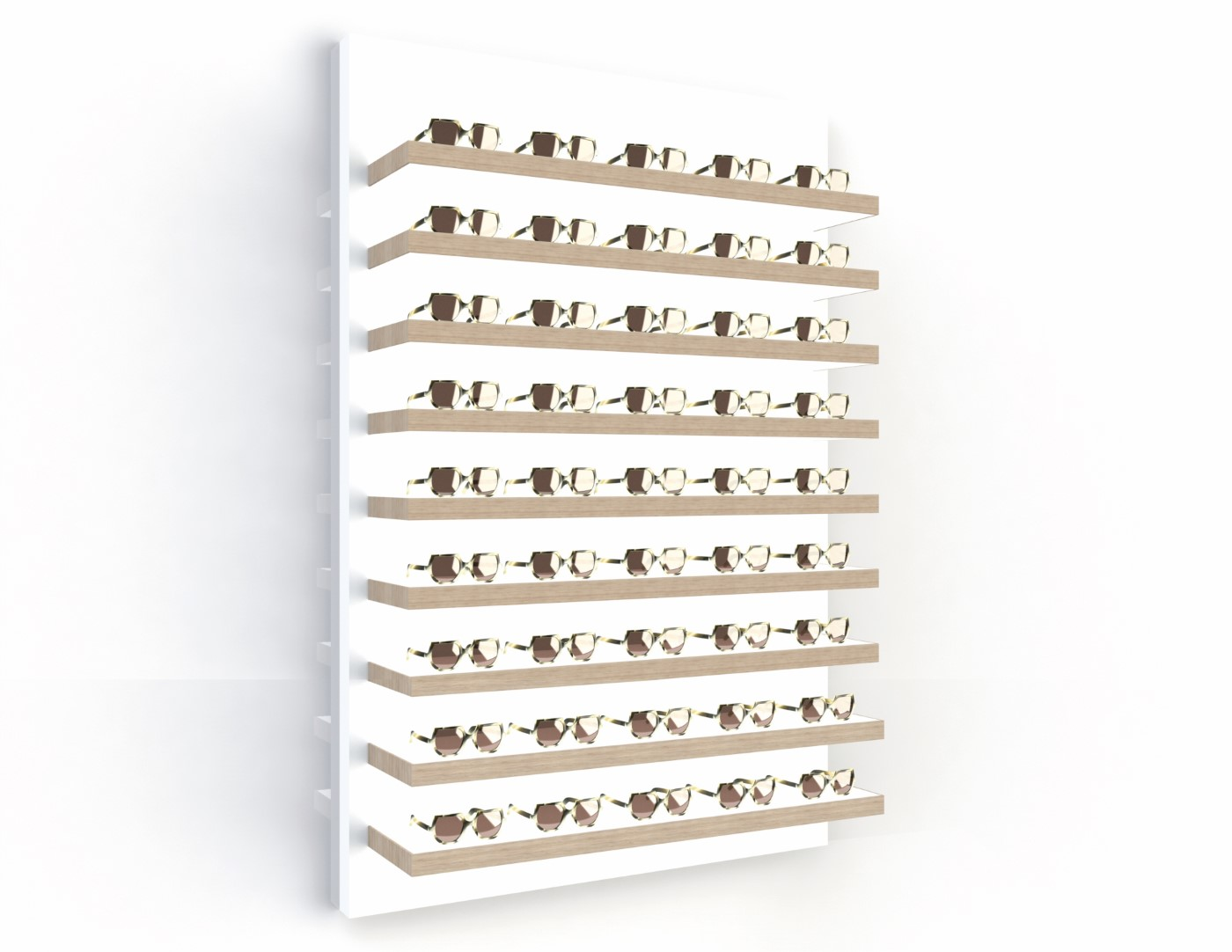 <strong>#58170W-ST</strong><br>9x 35mm LED shelves<br>45 frames