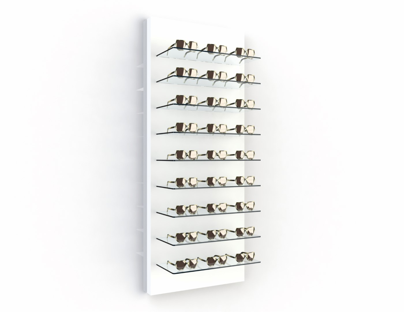 <strong>#58120W</strong><br>9x 6mm crystal clear shelves<br>27 frames