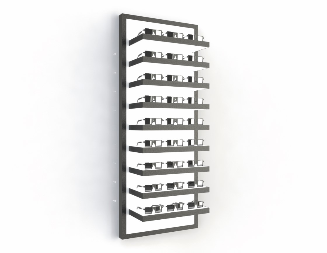 <strong>#58160B-B</strong<br>9x 35mm LED shelves<br>27 frames